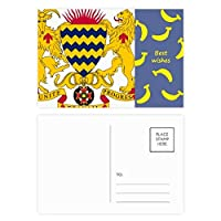 チャドの国章の国 バナナのポストカードセットサンクスカード郵送側20個