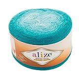 20% Wool 80% Acrylic Soft Yarn Alize Angora Gold Ombre Batik 1skn 150gr 902yds Thread Crochet Lace Hand Knitting Turkish Yarn (7245)