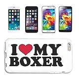 Reifen-Markt Carcasa para Samsung Galaxy S3 Mini, diseño de perro con texto 'I Love My Boxer'