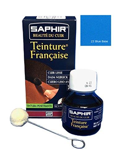 Saphir Trinture Française Cuir Liquide Bleu 50 ml