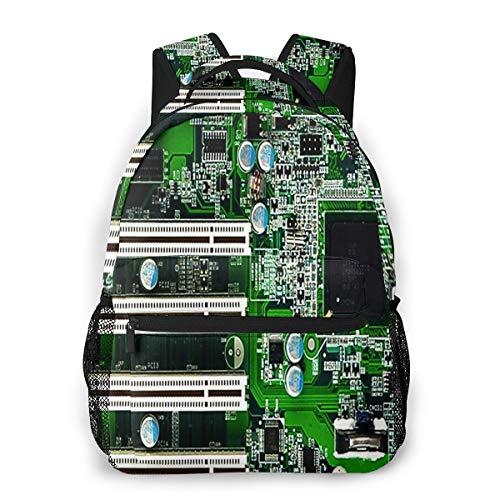 RAHJK Rucksack Typ Casual Schulranzen Rucksack Wasserdichter Stil für Laptop bis 35,6 cm (14 Zoll) Mainboard 3