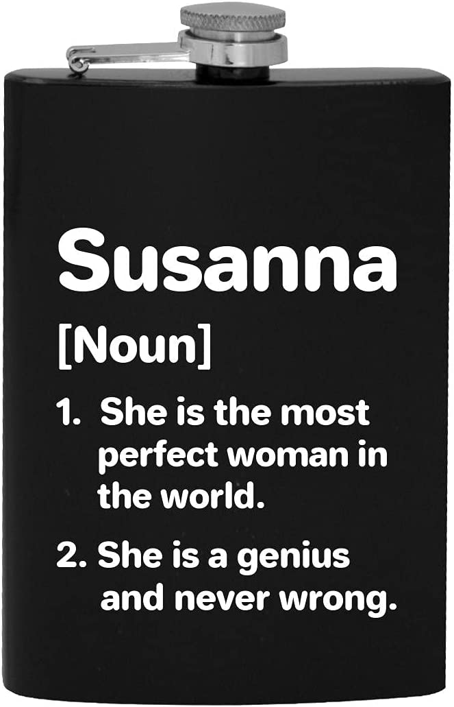 Susanna Popular brand in the world Definition The Most National uniform free shipping Perfect Woman Drinking Alc 8oz Hip -