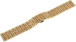 Prettyia Solid Mesh Stainless Steel Bracelet 18mm/20mm/22mm Polished Watch Band Strap
