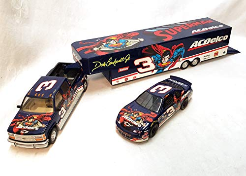 Dale Earnhardt, Jr Superman AC/Delco Show Trailer & Car Collection Diecast 1/24