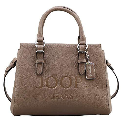 Joop! Damen Jeans lettera peppina Handtasche shz Farbe taupe Lederoptik Überschlag Reißverschluss