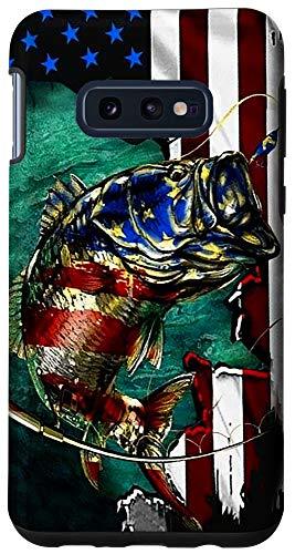 Galaxy S10e Bass Fishing American Flag Funny Fisherman Gift Case