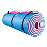 Fun Float Floating Water Mat, 9x6 feet, Swimming Island,Aqua Pad,Used in Lake,Pool,on Beach,for Relax, Vacation,Water Activities,Sports,Recreations,Parties,with Mooring Device,Rolled Packed, L-PWB