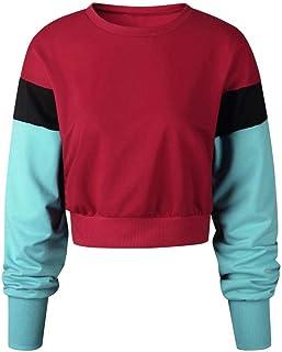 BOLUOYI Womens Long Sleeve Red Big Skull Hoodie Sweatshirt Jumper Pullover Top