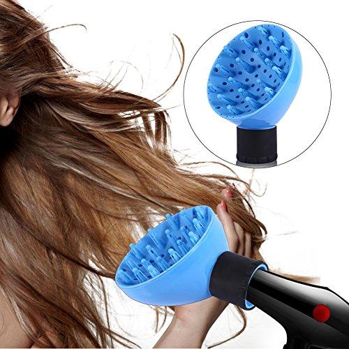 Difusor Universal para Secador de Pelo liso y rizado con flujo de aire y temperatura combinada para salón peluquería