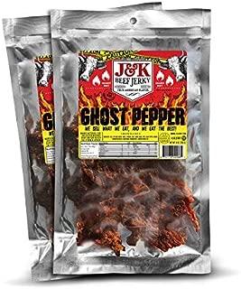 J&K Beef Jerky - Ghost Pepper 8oz. - 2 pack