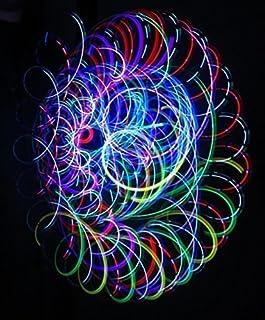 فروشگاه راک فوق العاده سرگرم کننده فروشگاه Crystal Bliss - Orbital Rave Light Toy - 4-Microlight LED Spinning Flywheel Light Show
