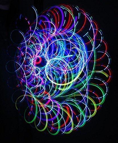 Rob's Super Happy Fun Store Crystal Bliss - Orbital Rave Light Toy - 4-Microlight LED Spinning Flywheel Light Show