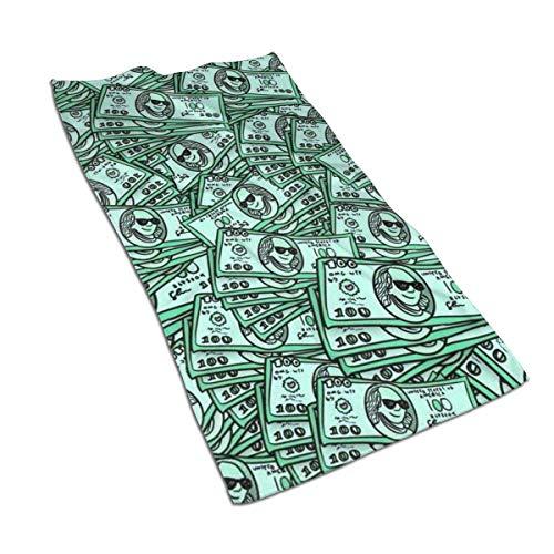 JULOE Toalla de Baño Toallas de Mano Absorbente Paño de Lavado Hombres con Gafas de Sol se burlan de los dólares estadounidenses 27.5 X 17.5 in