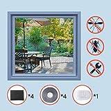 Homein Moustiquaire Fenetres Fiable Moustiquaire pour Fenêtre Anti Insectes et Auto-adhésive Moustique velux avec Ruban Adhesif...