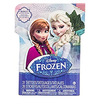 Savvi 57 Piece Frozen Stickers and Tattoos Party Favor Pack Temporary Tattoos and Stickers for Kids