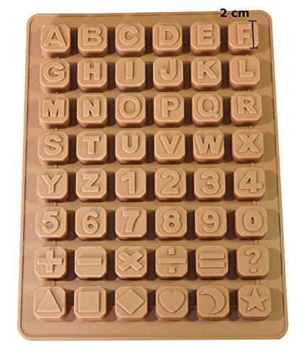 Zeepprofis 48 letters cijfers speciale tekens kubus siliconen zeepvorm bakvorm chocoladevorm 24 * 18 * 1,5 cm
