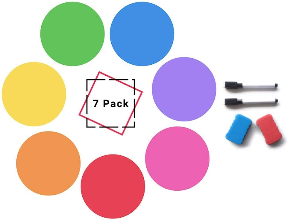 Dry Erase Dots for Max 61% OFF Tables Ranking TOP13 Wall Circle 7 Set pops of
