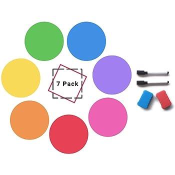 TeachersFriend Dry Erase Circles Rainbow Set