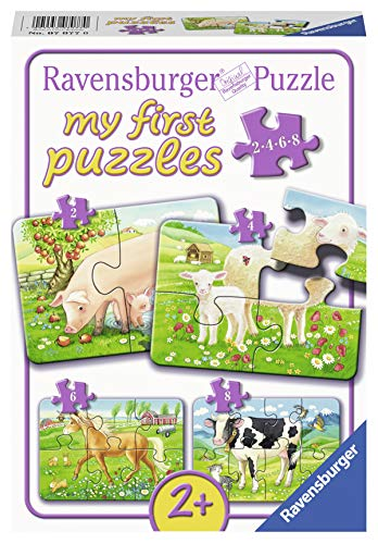 Ravensburger Kinderpuzzle 07077 - Unsere Lieblingstiere - my first puzzles - 2,4,6,8 Teile
