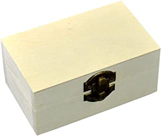 Szaerfa Pequeña Caja de Joyería de Madera Cofre del Tesoro Caja de Regalo Caja de Regalo Caja de Almacenamiento de Arte de...