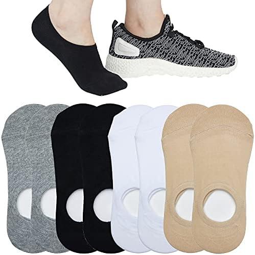 4 to 8 Pairs Ultra Low Cut No Show Socks Women...