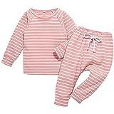 U·nikaka Toddler Baby Girl Outfit Pajamas Long Sleeve Shirt Top+Pants with Belt Infant Gift