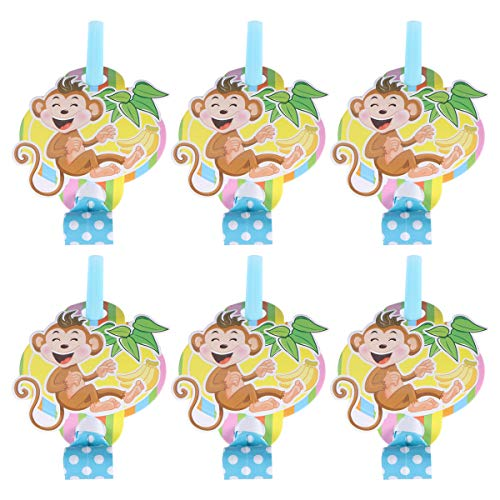 For Sale! 12pcs Party Blowers Noisemakers Blowouts Whistles Musical Blow Outs Children Birthday Party Favors Supplies (Monkey)