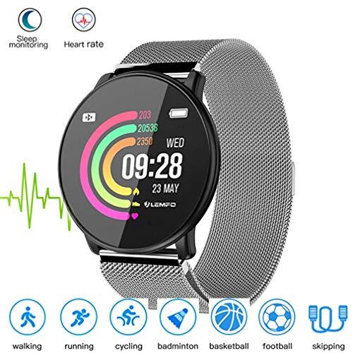 HOMECCLL Bluetooth Smart Watch für Männer 1,33 Zoll Display Starp Ersatz-Herzfrequenz-Monitor Multi-Sport-Modus Smartwatch,D