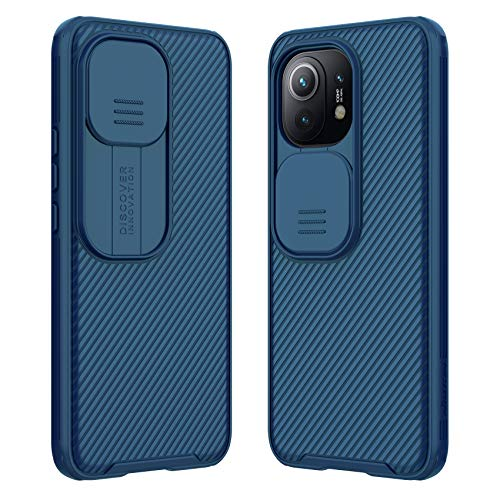 DNGN Camera Protection Case for Xiaomi mi 11 Slide Cover Lens Protection Privacy Case for Xiaomi mi11 (Blue)