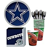Party City Dallas Cowboys Party Supplies for 18 Guests, Include Paper Plates, Paper Napkins, Plastic Cups, and Utensils