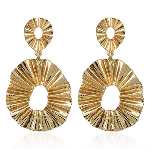 Geschenken Oorbellen Vintage oorbellen Groot voor dames Statement oorbellen Geometrische gouden kleur Metalen hanger Oorbellen Trend sieraden2