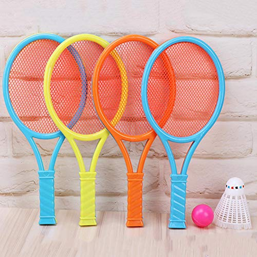 Chutoral Kinder Badminton Set - 1 Paar Badmintonschläger Sport Cartoon Anzug Spielzeug Badminton Racket Set Draussen Spielzeug für Kinder(1)