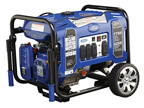 ford gas generators Ford FG7750PE M Series 7750W Peak 6250W Rated Portable Gas-Powered Generator with Electric Start