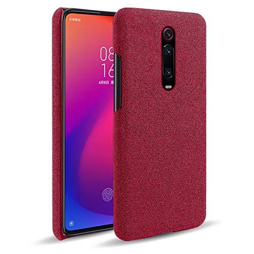 "MOONCASE Capa para Xiaomi Mi 9T, textura de tecido macio ultrafina, antiimpressão digital, capa de proteção à prova de choque para Xiaomi Mi 9T/Redmi K20/Redmi K20 Pro 6,3"" (vermelha)"