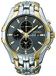 "Seiko Men's SSC138 ""Excelsior"" Two-Tone Stainless Steel Solar Watch Japanese quartz movement with analog display"