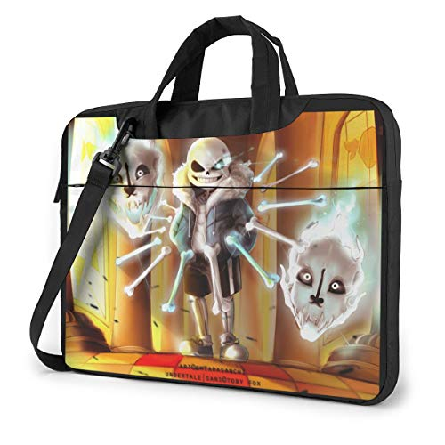 JuaoHuan Undertale Laptop Shoulder Messenger Bag Case Briefcase Sleeve for 13 Inch 14 Inch 15.6 Inch Laptop Case 15.6 Inch