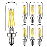 LiteHistory E12 led bulb Dimmable 4W equal 40W led candelabra bulb daylight 5000K clear T6 T25 E12 edison bulb for...