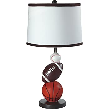"SH Lighting Multi-Sports Table Desk Lamp - 24.5"" Tall Great for Sports Themed Rooms, Bedrooms or Kids Rooms (Mixed Sports, 24.5""H)"