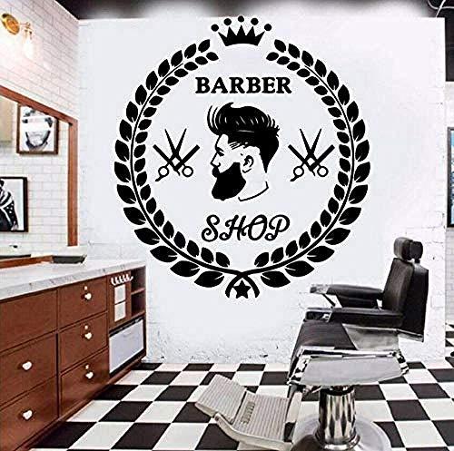Top peluquería creativa peluquería papel tapiz adhesivos de pared fondo decorativo adhesivos de pared vinilo desmontable de alta calidad 58X63CM