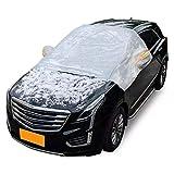 LLEH Auto Parabrezza della Neve Cover, con 4 Strati Protezione Snow Ice Sun Sun Glot Defense Difensore Extra Grande Parabrezza Cover Winter Fit La Maggior Parte delle Auto e SUV