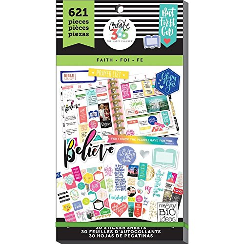 me & My Big Ideas PPSV-17-2048 The Happy Planner Sticker Value Pack, Classic Faith