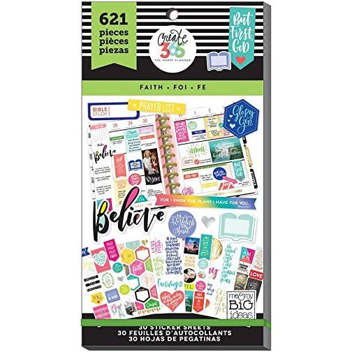 me & my BIG ideas Sticker Value Pack for Classic Planner - The Happy Planner Scrapbooking Supplies - Faith Theme - Multi… |