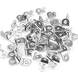 100 soportes de fijación de acero inoxidable 20 x 20 mm
