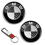 2Pcs 82mm Aluminio Emblema Badge Carbono Emblem Logo Delantero Capó y Maletero Portón Trasero Repuesto 51148132375 para BM W E36 E38 E93 E60 E81 E87 E88 E65 E66 F01 F03 G11 X1 X3 X5 X6