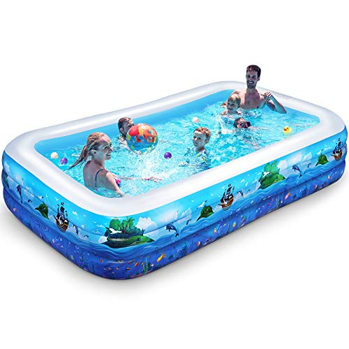 iBaseToy Aufblasbarer Pool Spielwasserpool Babybad Sommerkinder