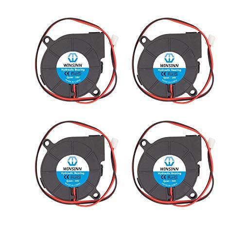 WINSINN Ventilador de 50 mm 24 V 5015 50 x 15 mm turbina Turbo sin escobillas para PC CPU – Silencioso (paquete de 4 unidades)