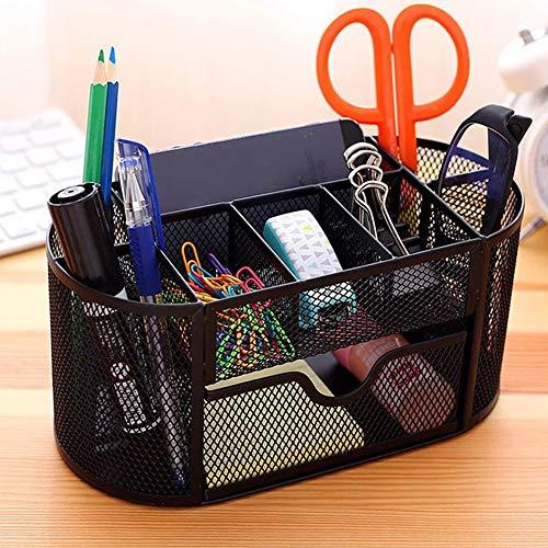 Pen Holder for Desk Mesh Desk Organizer Accessories with Desk Drawer Pencil Holder for Home Office