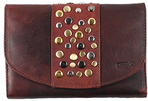 Pranke Große Damen Geldbörse Portemonnaie Vintage Braun