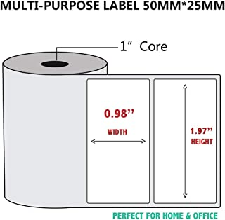 NETUM Self-Adhesive Multi-Purpose Label Paper Compatible for NETUM G5 Label Printer-1 Roll of 300 Labels 50x25mm