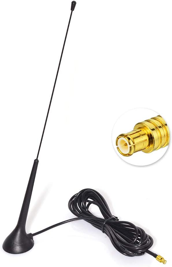 Eightwood Dab Antena Adaptador SMB Dab+ Antena de Radio para automóvil (Base de Antena) con Cable extensión RG174 300cm para Blaupunkt Beat TechniSat ...